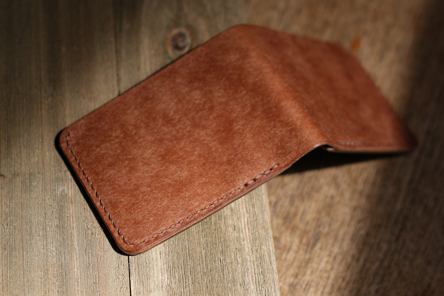 Image of Traditional Bifold in Tobacco Pueblo and Waxed Flesh Chromexcel