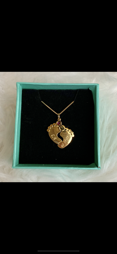 Image of Footprint Pendant