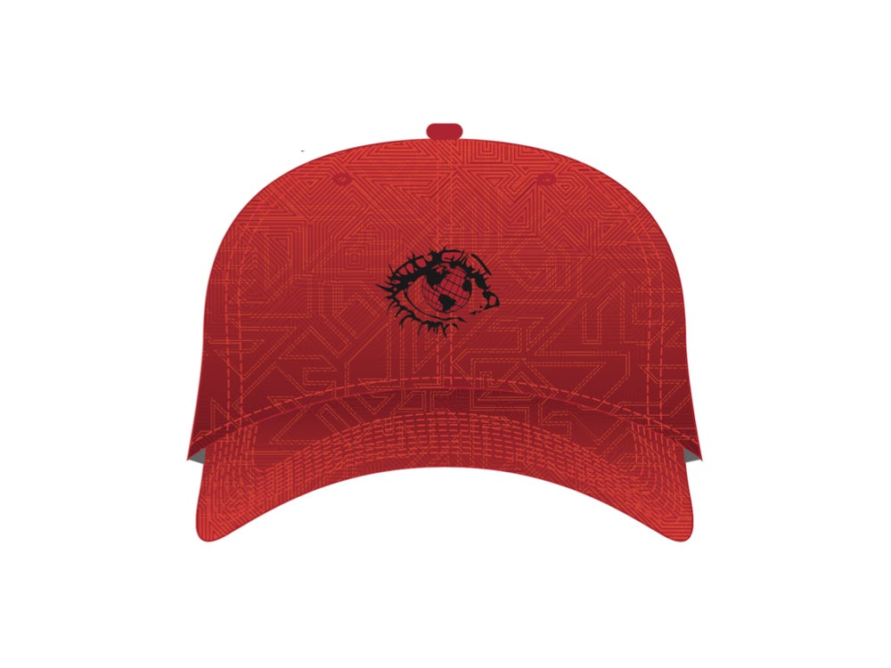 Image of EYE CAN UNITE X GRASSROOTS STRAP BACK - RED