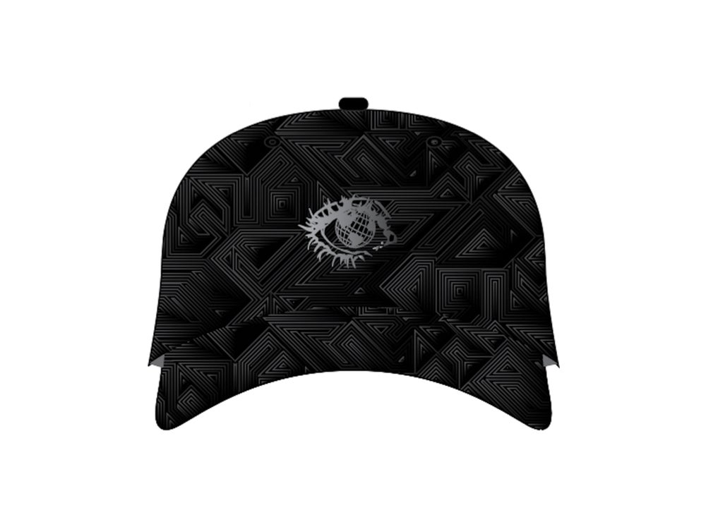 Image of EYE CAN UNITE X GRASSROOTS STRAP BACK - BLACK