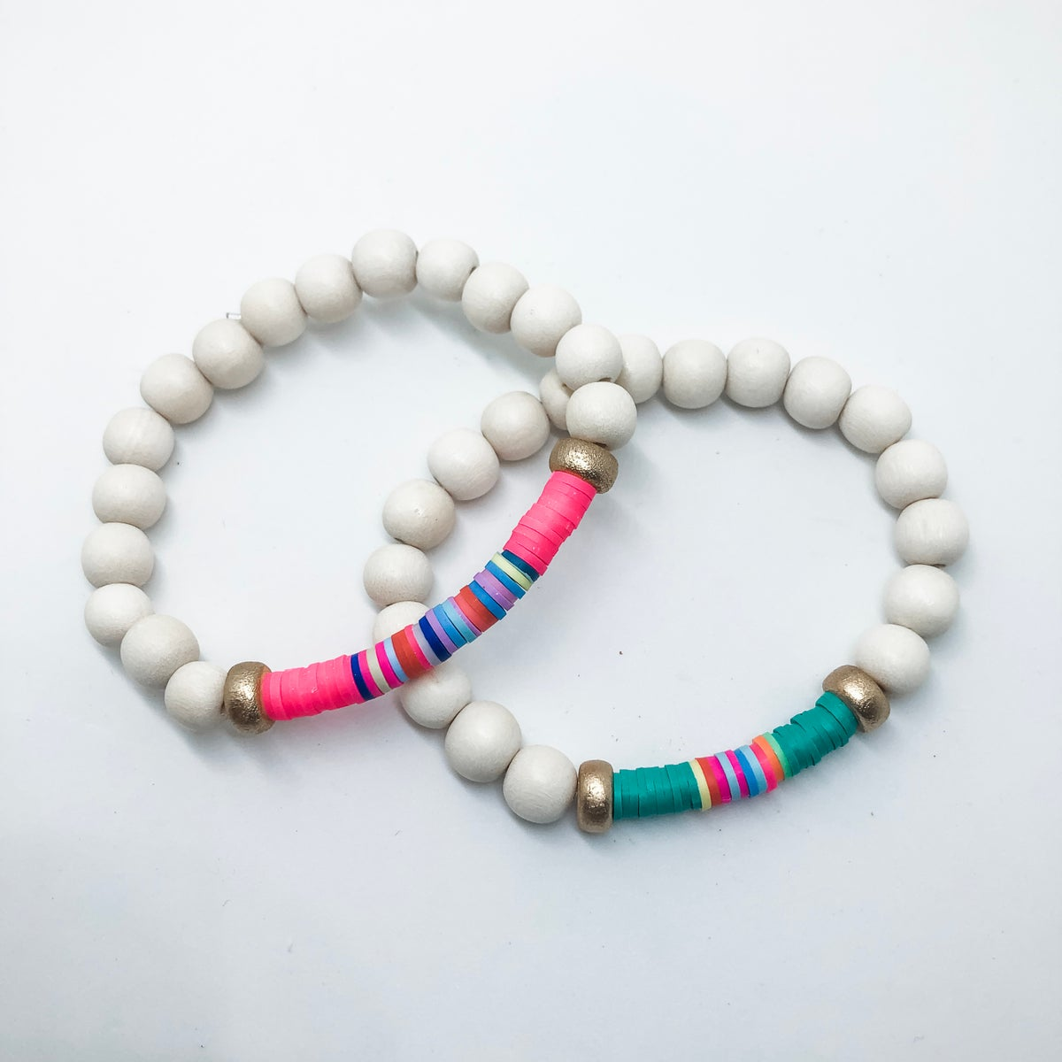 Image of Girls Vinyl Beaded Bracelet