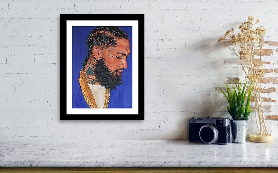 """Image of """"Hussle"""" Reproduction & Poster Prints"""