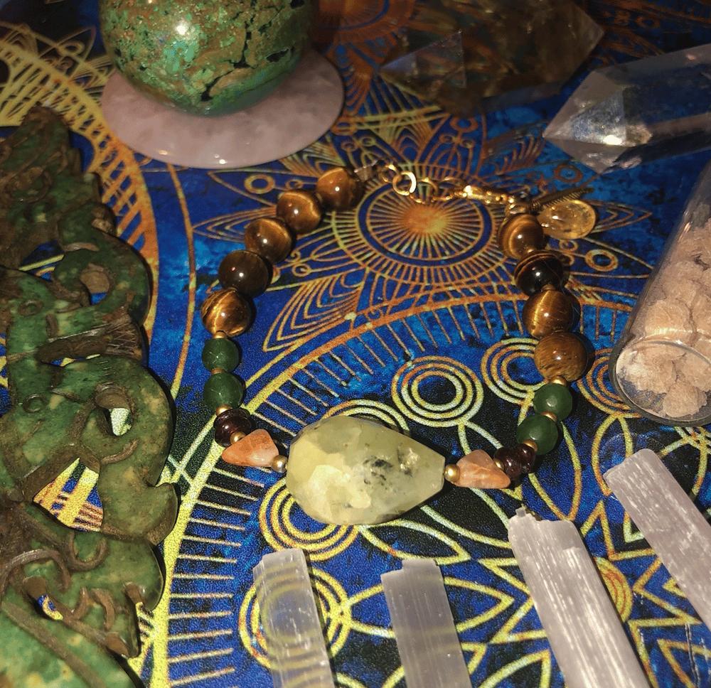 Image of Abundance + Happiness Gemstone Talisman Bracelet