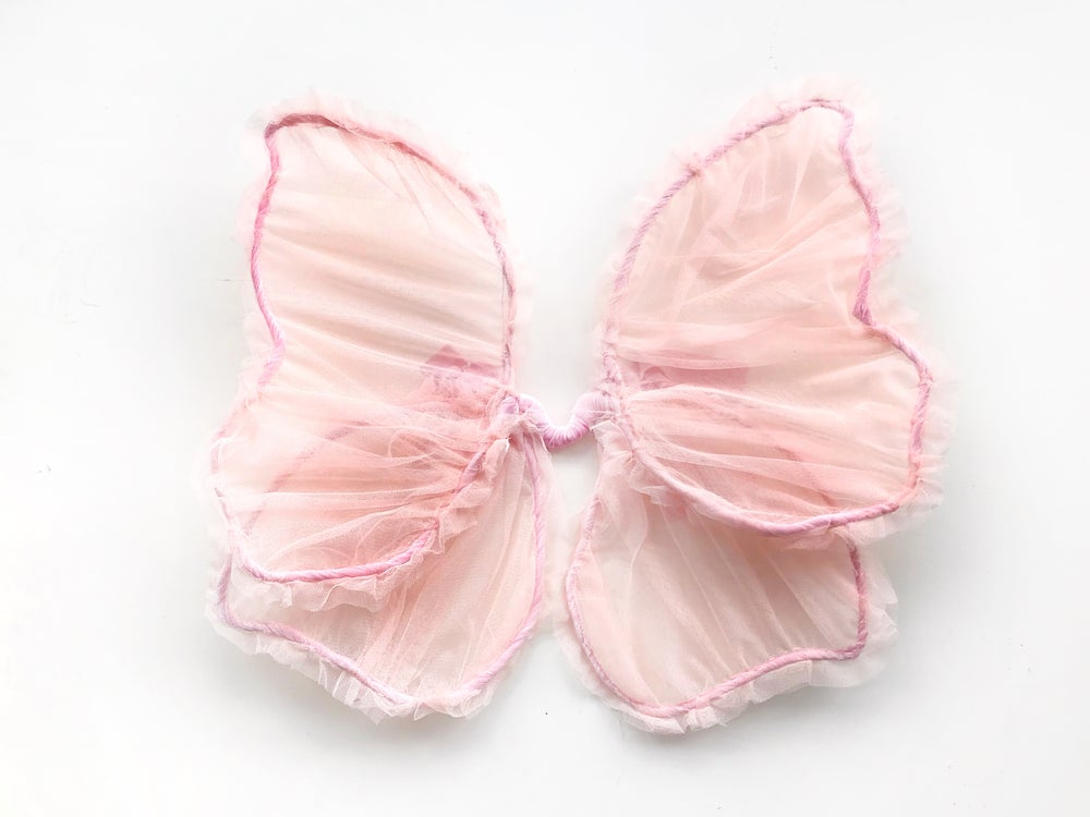Image of 'almond blossom' sheer fairy wings | peachy pink