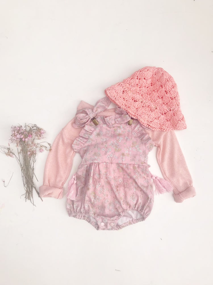 Image of 'blossom' frilly playsuit