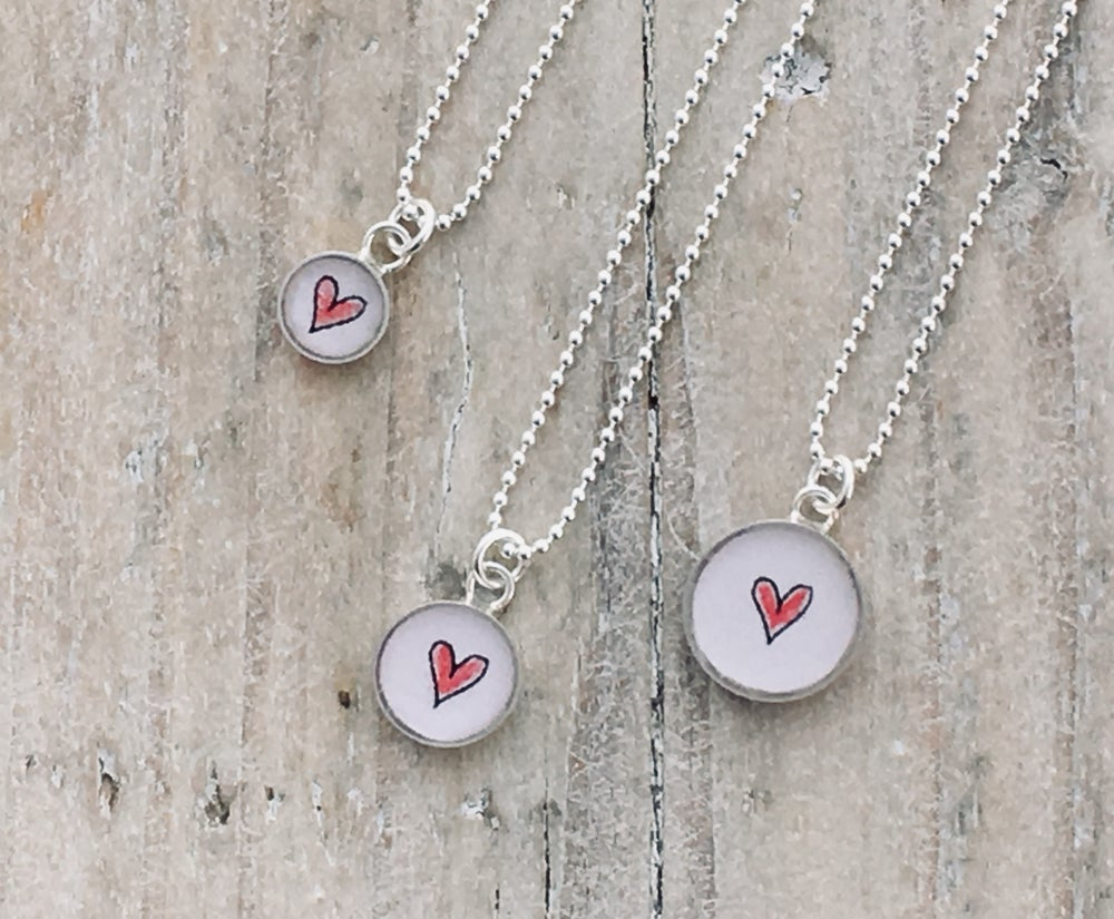 Image of Red Heart Charm Pendant