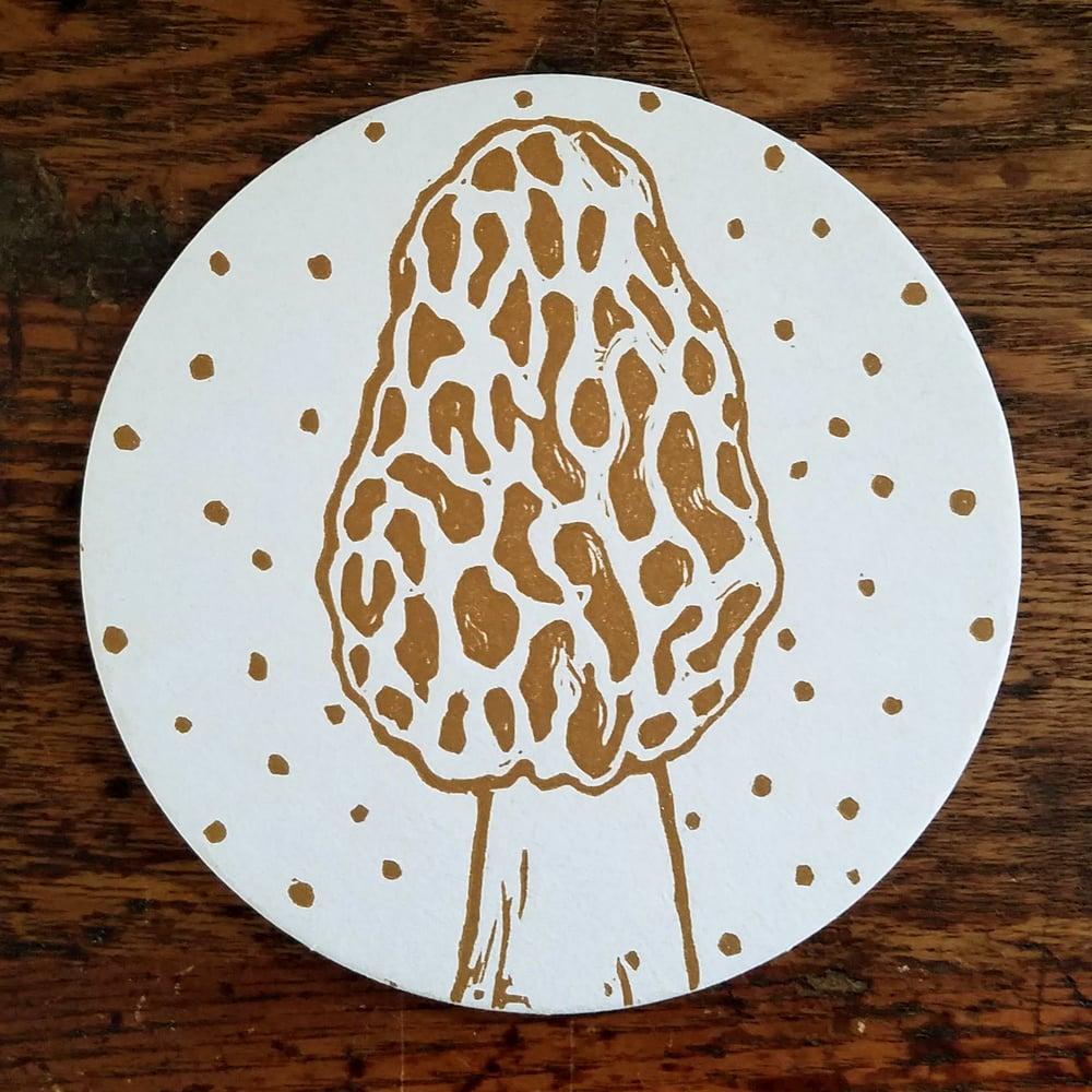 Image of Morel Mushroom Coasters