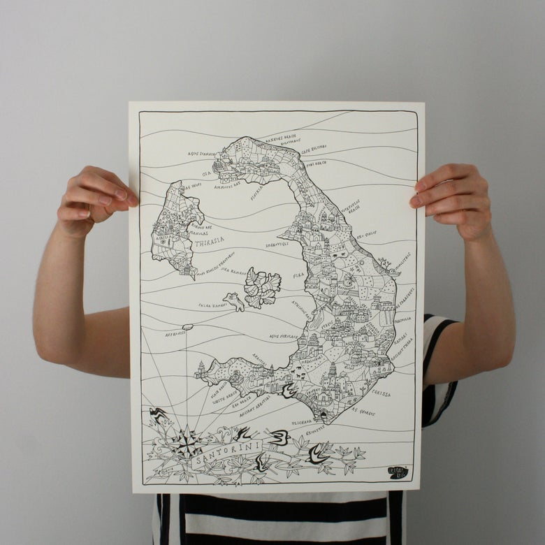 Image of Map of Santorini