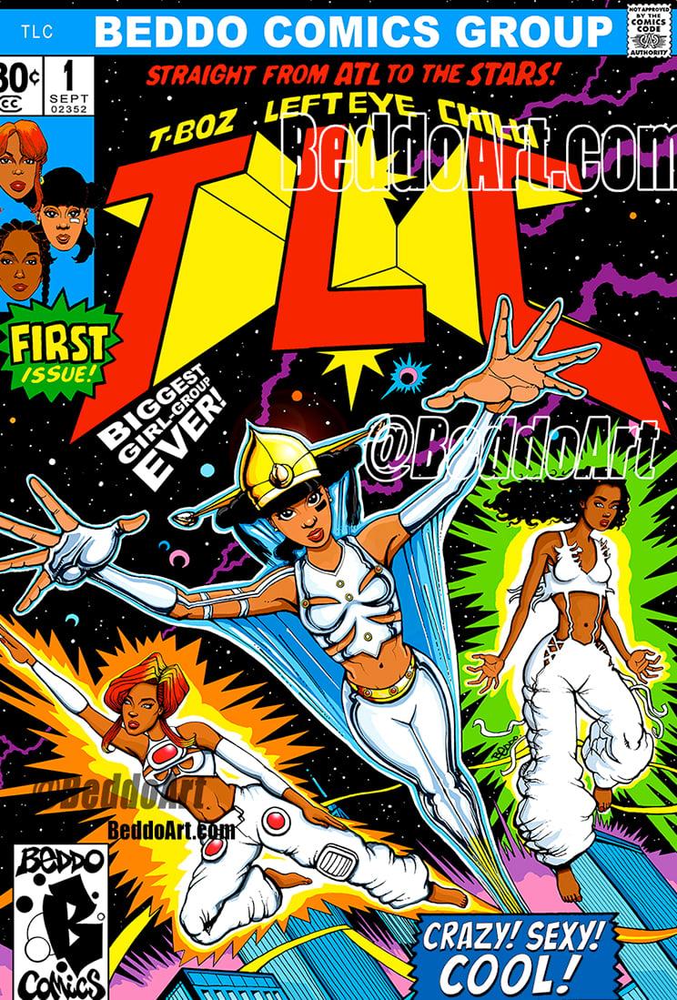 Image of TLC Comic Book cover PRINT