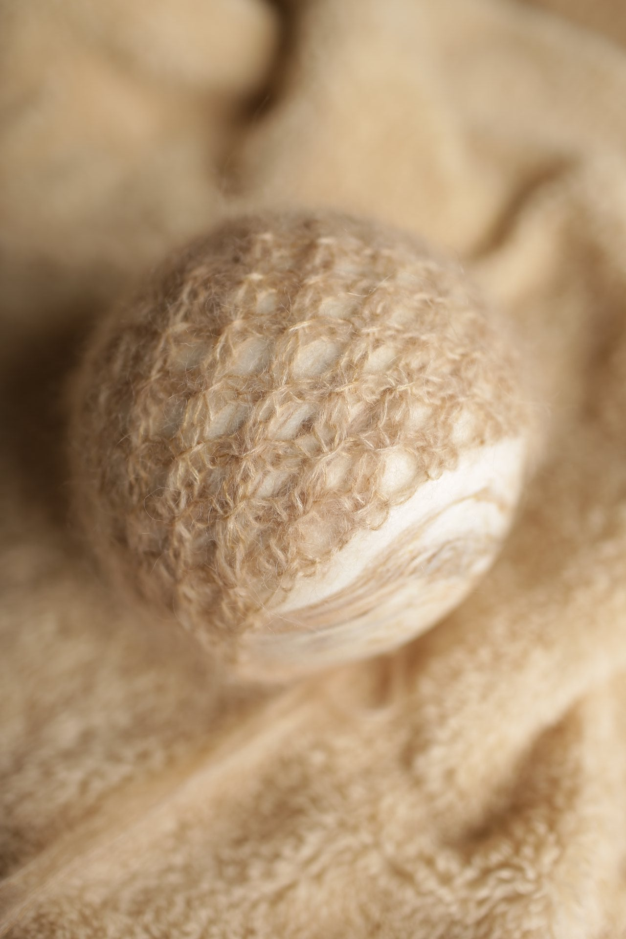 Image of Simple Mohair Knit Bonnet