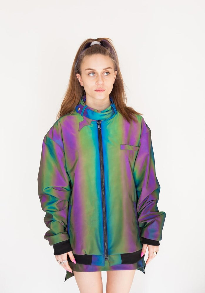 Image of Multi color Light Reflective Jacket