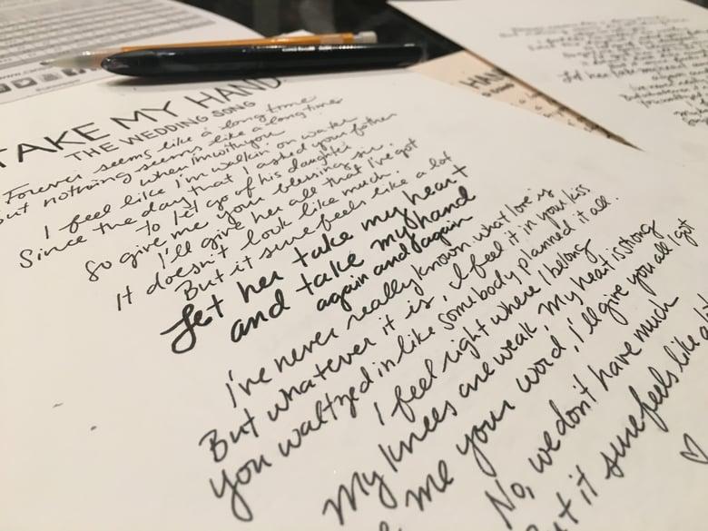 Image of Handwritten Lyrics