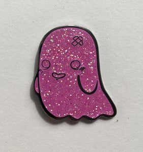 Image of Pink Glitter Ghostey Pin