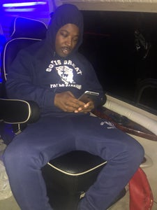 Image of NAVY BLUE & WHITE GIGP$ HOODY
