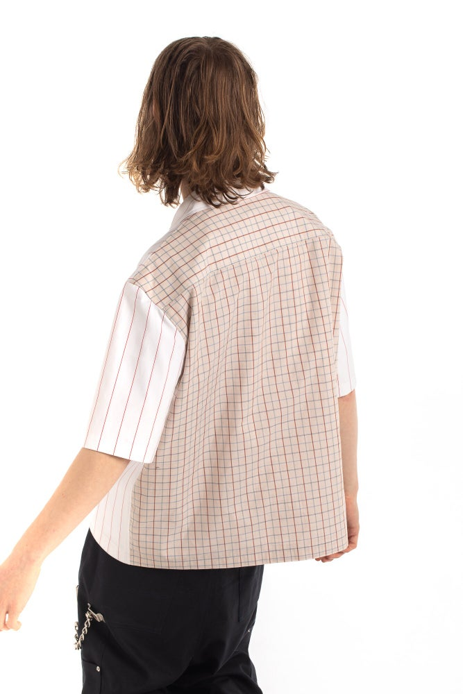 Image of HARDWARE BLOCKED MAGNET CLOSURE SHIRT