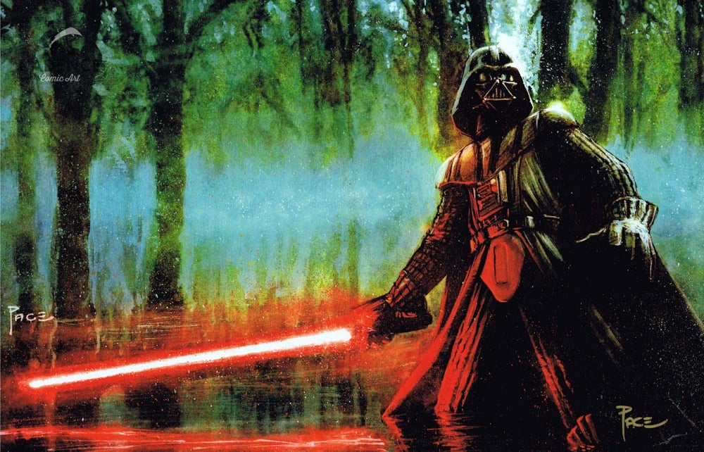 Image of Darth Vader Print by Richard Pace (Signed)