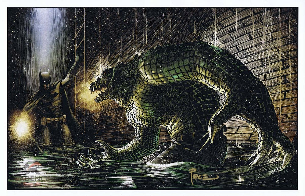 Image of Batman vs. Killer Croc Print by Richard Pace (Signed)