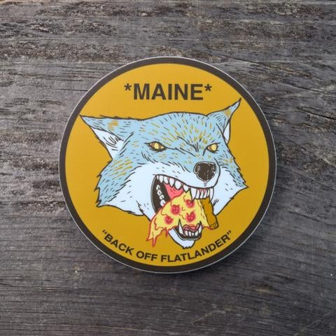 Image of Pizza Wolf Sticker