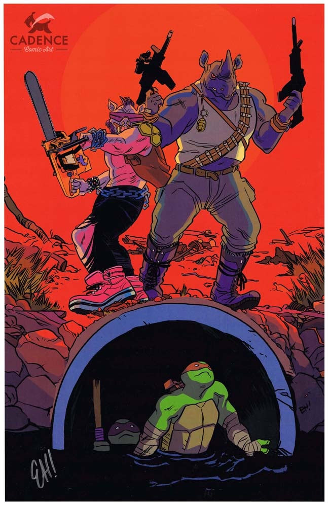 Image of Bebop and Rocksteady's Revenge Print by Erica Henderson (Signed)