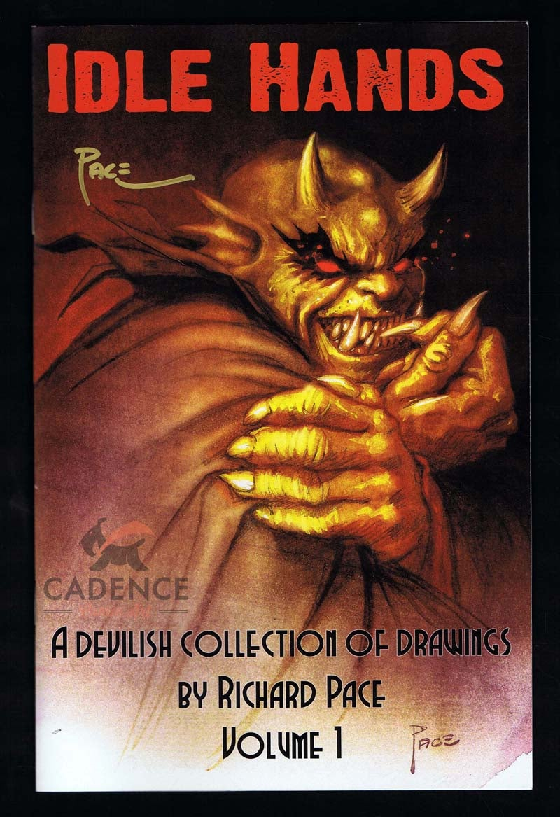 "Image of Richard Pace ""A Devilish Collection of Drawings"" Volume 1 Artbook (Signed)"