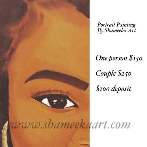 Image of Custom Portrait Painting Deposit