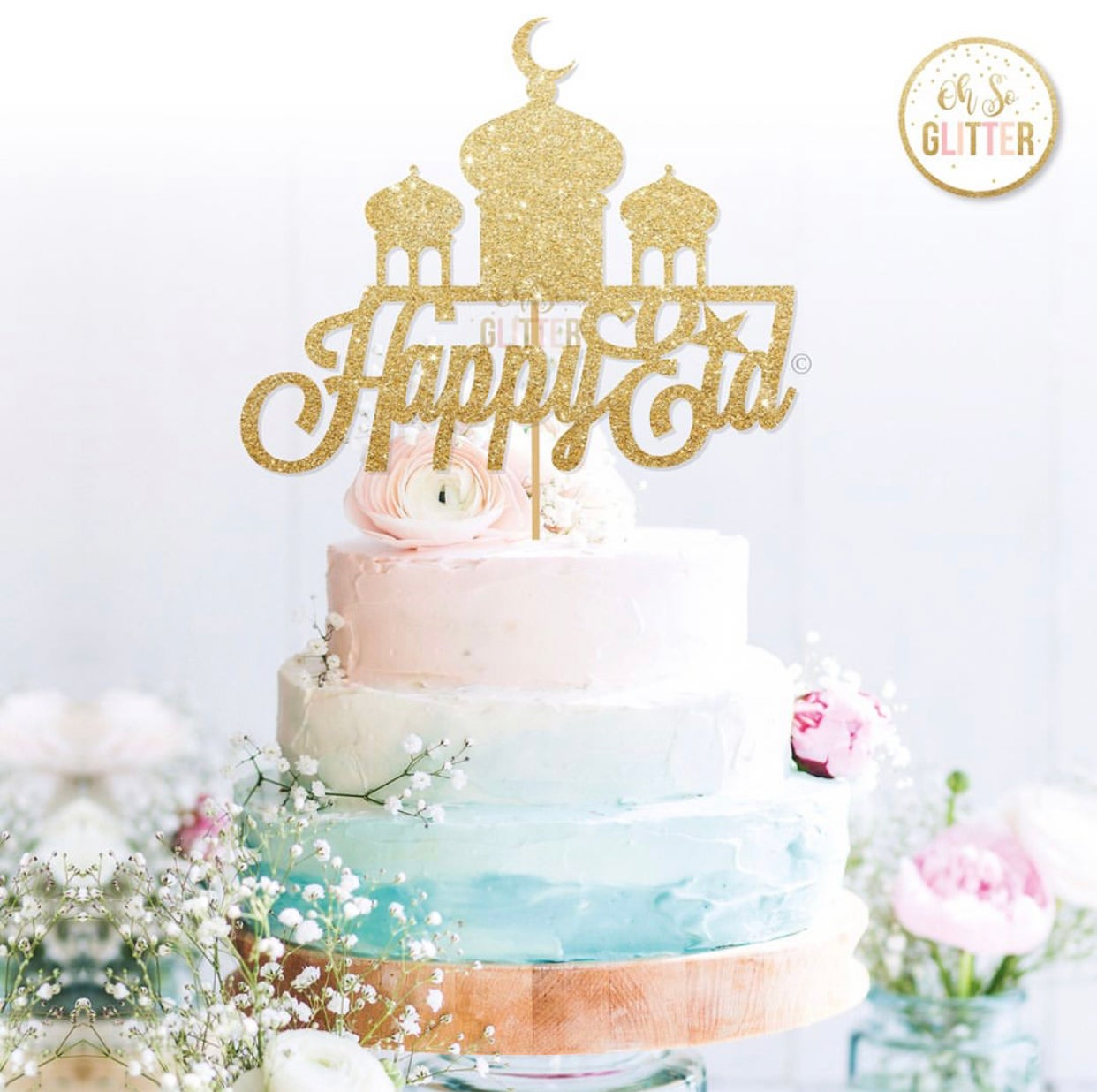 Image of Happy eid cake topper