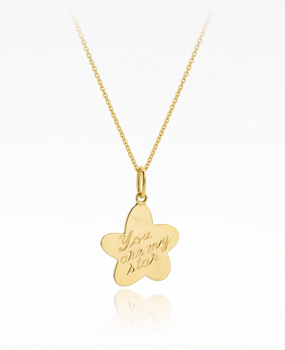 Image of pendant 'You are my star' in Fair trade gold - hanger - medaillon