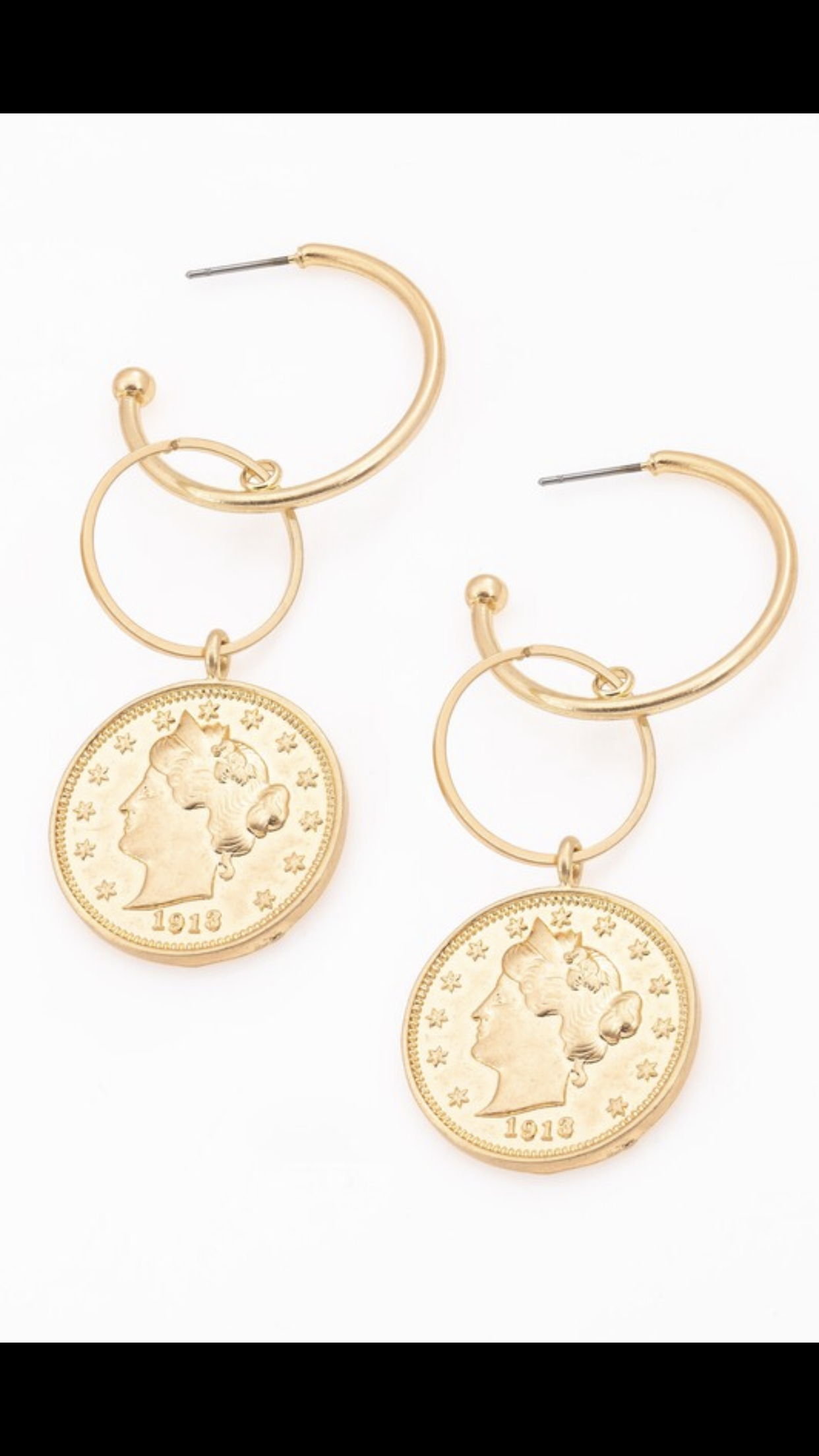 """Image of """"Coinage"""" earrings"""