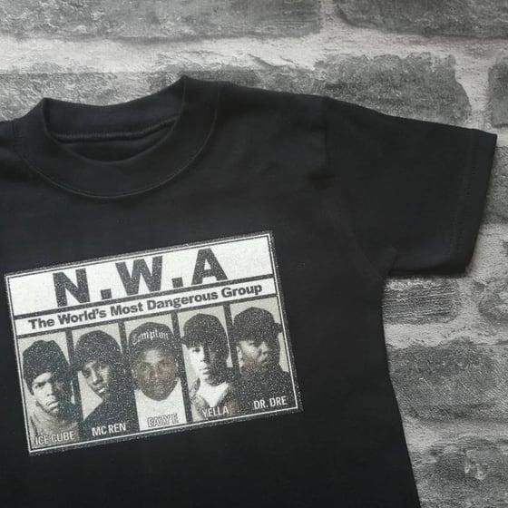 Image of Gangsta & glitter NWA Tshirt