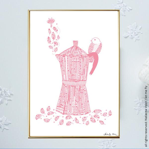 Image of *Pink Moka Coffee Pot*_A4