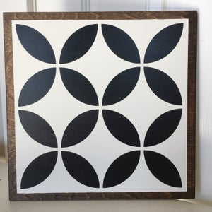 "Image of 11"" Classic Wood Barn Quilt - Black"