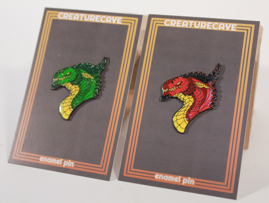 Image of Dragon Head Enamel Pins