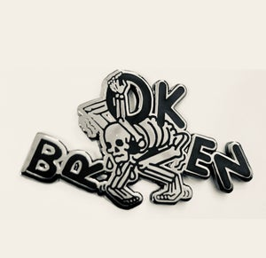 "Image of brOKen 1.75"" enamel pin"