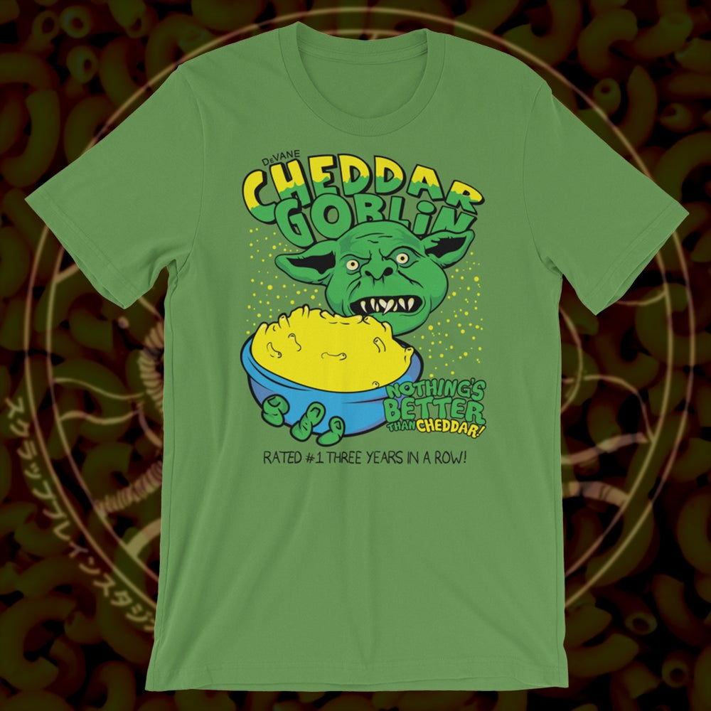 Image of Cheddar Goblin T-shirt GREEN