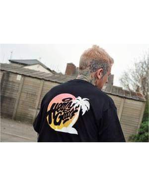 Image of Heavy Goods Sunset Logo T-Shirt - Black
