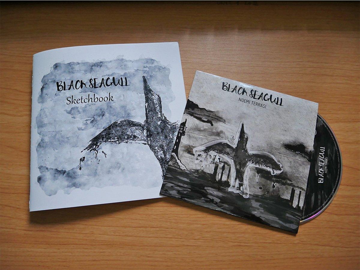 Image of Black Seagull Sketchbook + CD - LIMITED TIME - Signed