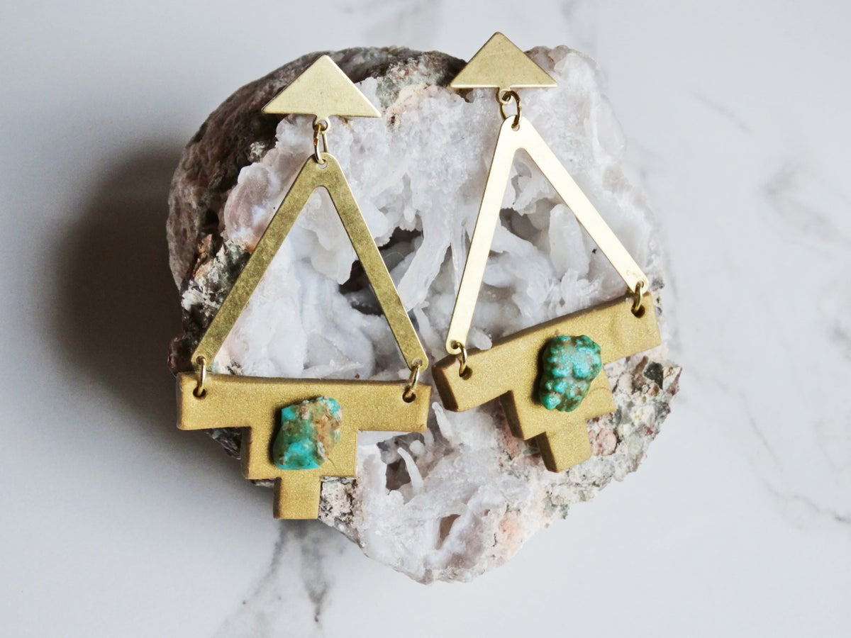 Image of brass + turquoise + gold clay