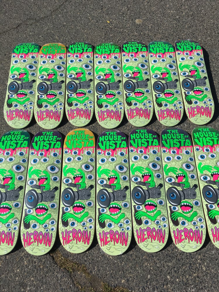 Image of The House X Heroin Skateboards deck