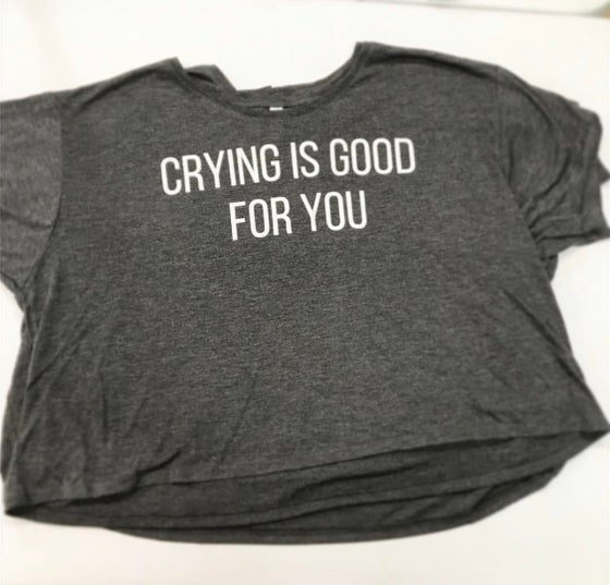 Image of Crying Is Good For You Crop Top