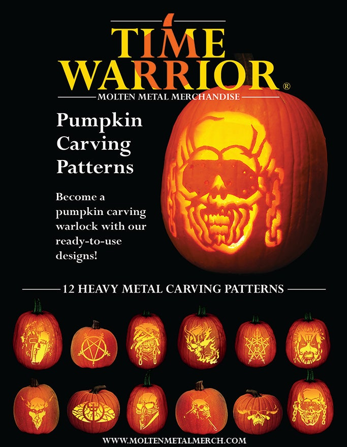 Image of Heavy Metal Pumpkin Carving Patterns Book