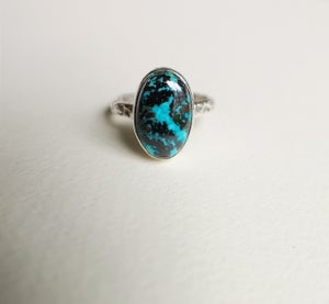 Image of Bague azurite - taille 54 - ref. 3872