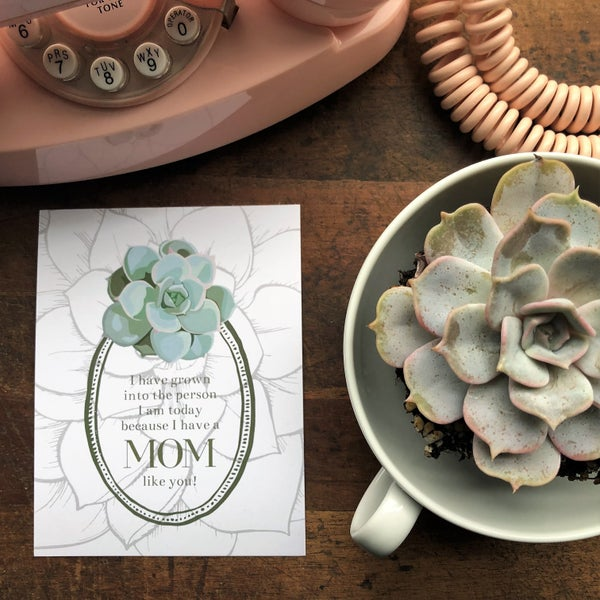 Image of Mother's Day Succulent Card