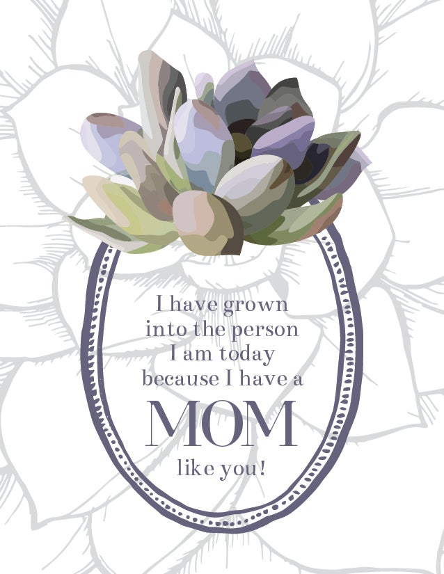 Mother's Day Succulent Card