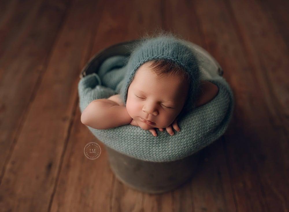 Image of Angora Bonnet - teal blue