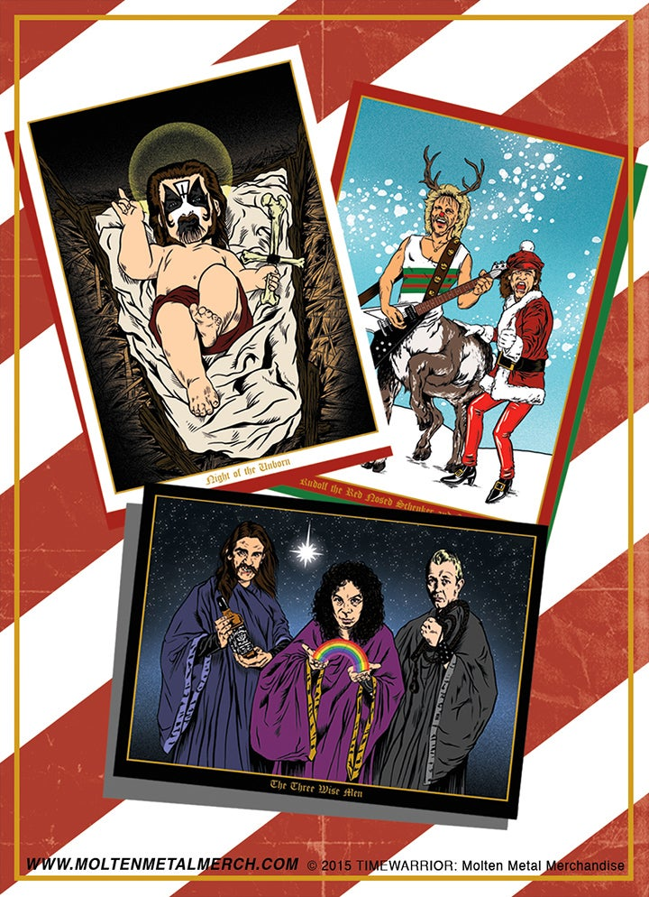 Image of Heavy Metal Heroes Holiday Cards