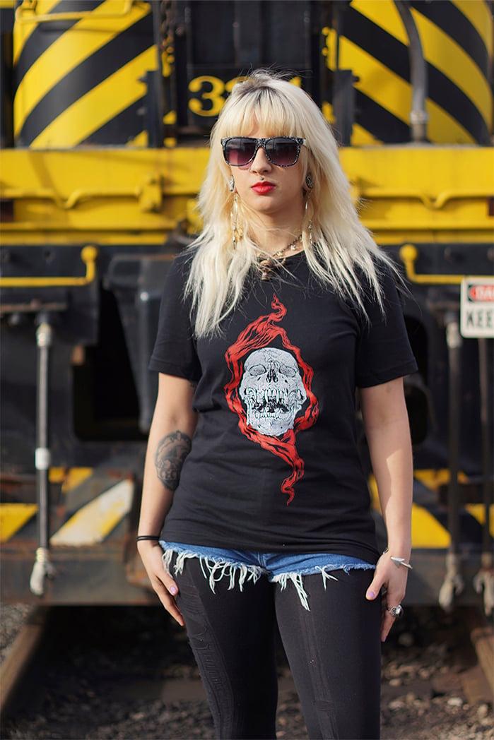 Image of SKULLS OF METAL - DRUG DEMON T-shirt