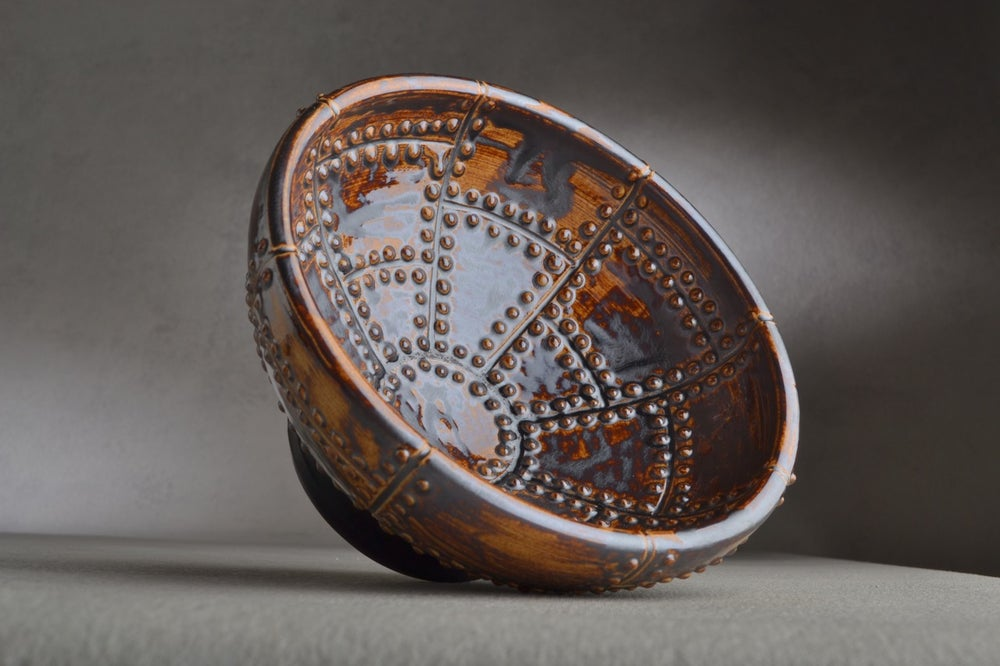 Image of Shaving Bowl Made To Order Rust Brown Sheet Metal No Recess Shaving Bowl by Symmetrical Pottery