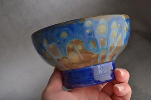 Image of Shaving Bowl Made To Order Starry Night Dottie No Recess Shaving Bowl by Symmetrical Pottery