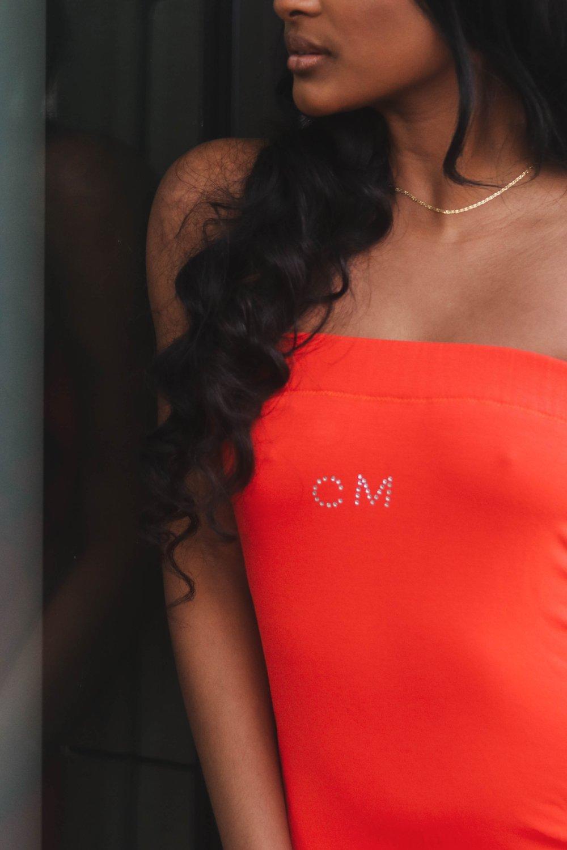 Image of CM Bling Tube Dress (Orange, Chocolate, Fuchsia)