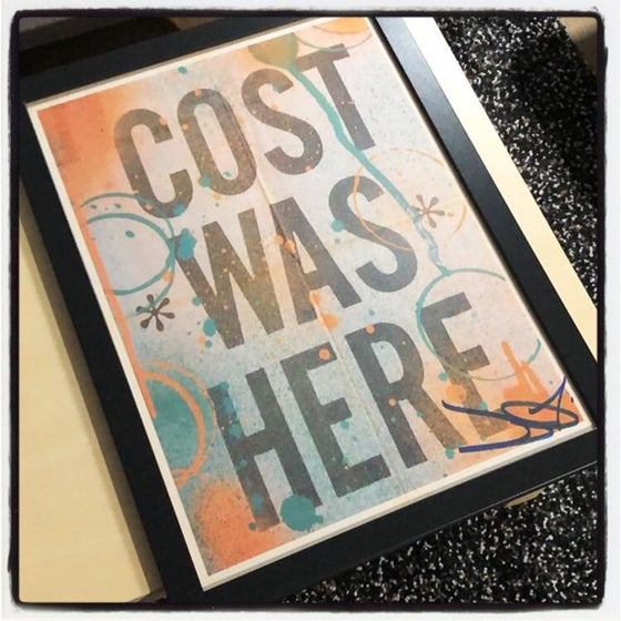 Image of COST KRT SIGNED POSTER